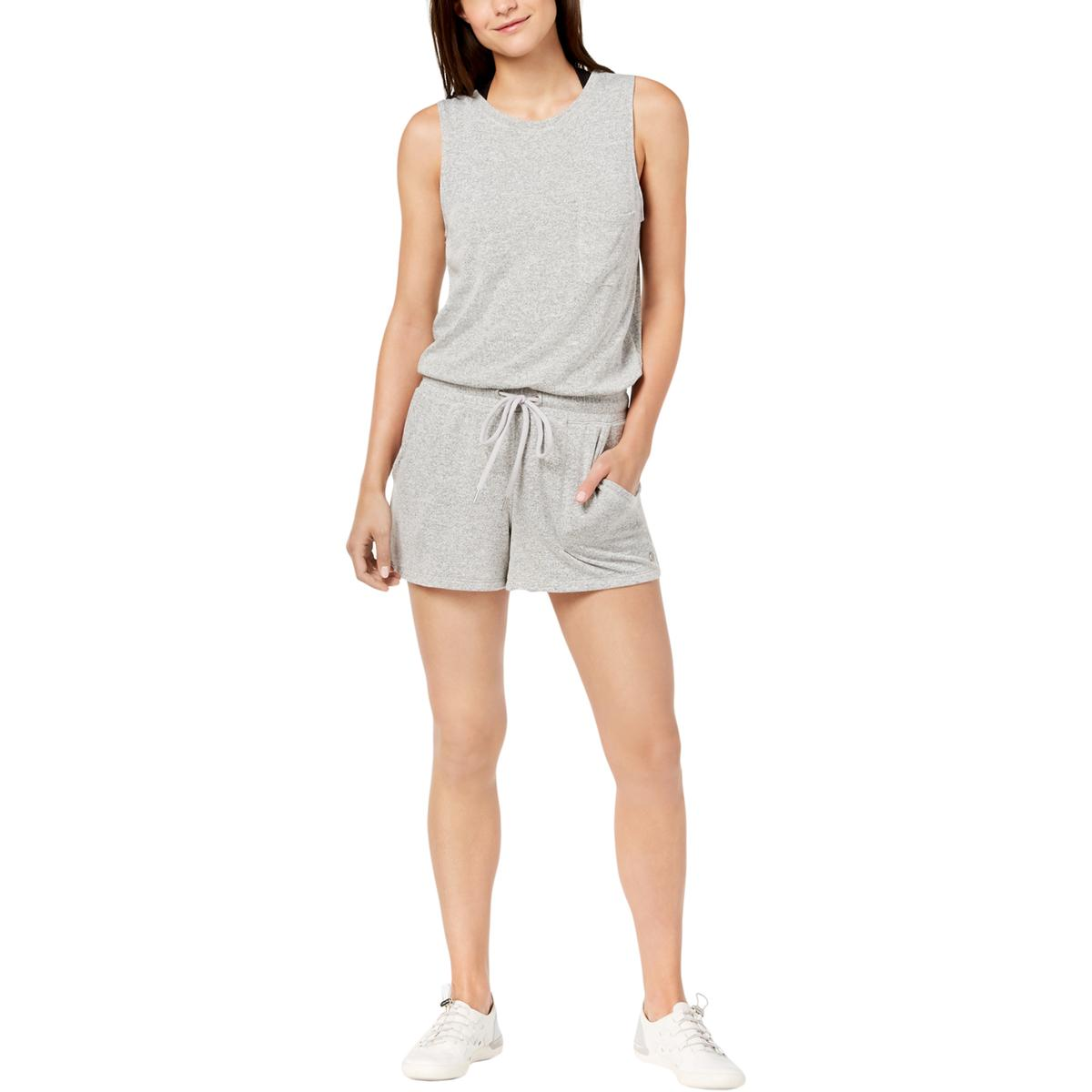 b316a4ed3b5b Calvin Klein Performance Womens Gray Workout Romper Athletic XL BHFO ...