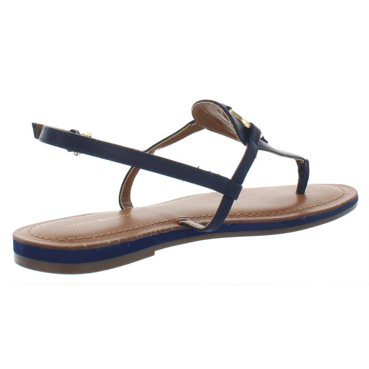 Tommy-Hilfiger-Womens-Genei-Metallic-T-Strap-Thong-Sandals-Shoes-BHFO-7834 thumbnail 8