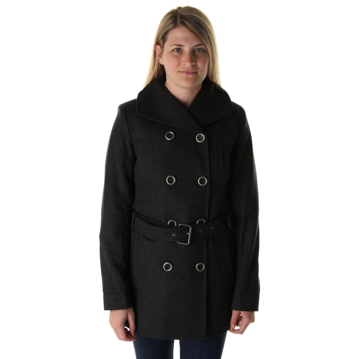 Double breasted womens pea coat