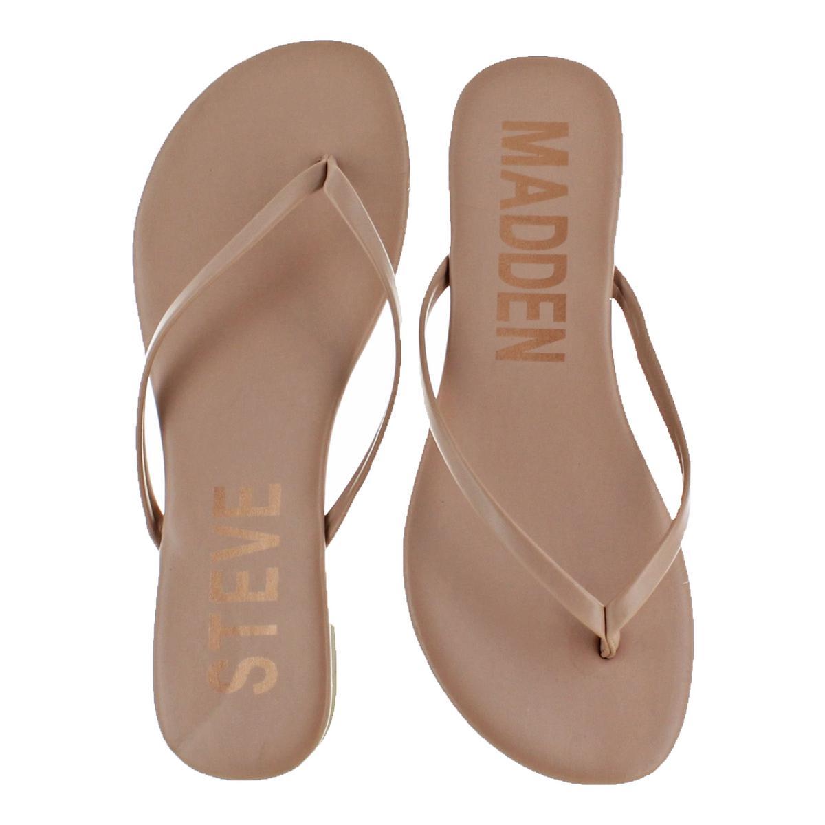 Steve-Madden-Women-039-s-Blink-Slip-On-Casual-Thong-Flat-Sandals-Shoes thumbnail 7