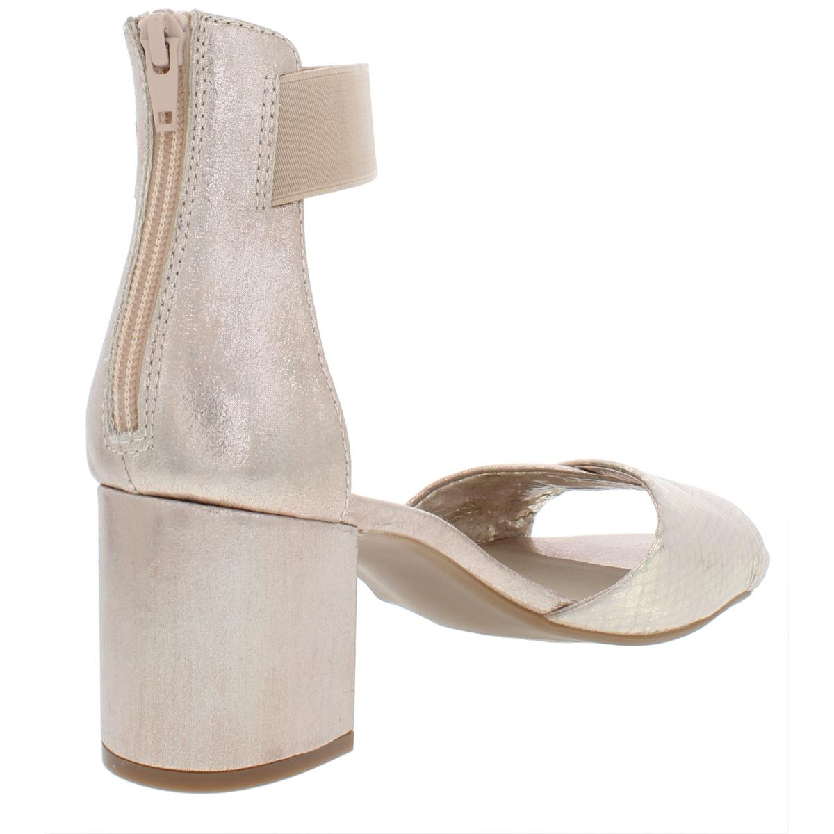 White Mountain Womens Evie Ankle Strap Block Heel Dress Sandals Shoes BHFO 4221