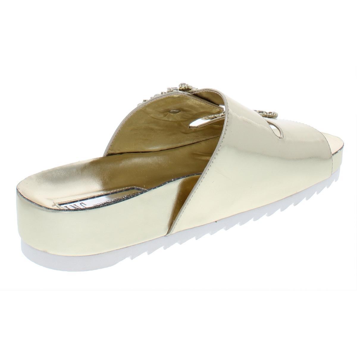 INC-Womens-Alani-Embellished-Metallic-Flat-Sandals-Shoes-BHFO-6405 thumbnail 6