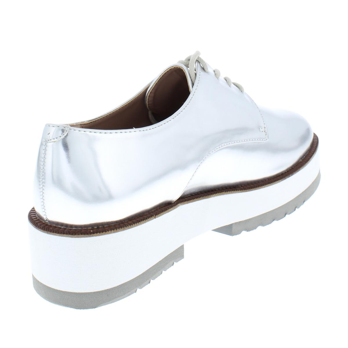 Kensie-Womens-Brayan-Solid-Patent-Casual-Oxfords-Platforms-BHFO-4739 thumbnail 4