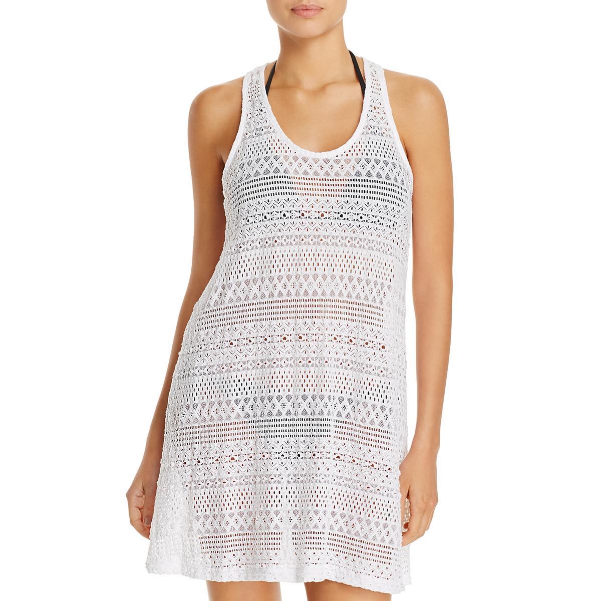 1da94ff2e95 Details about J Valdi Womens Lace Tank Sleeveless Dress Swim Cover-Up BHFO  7768