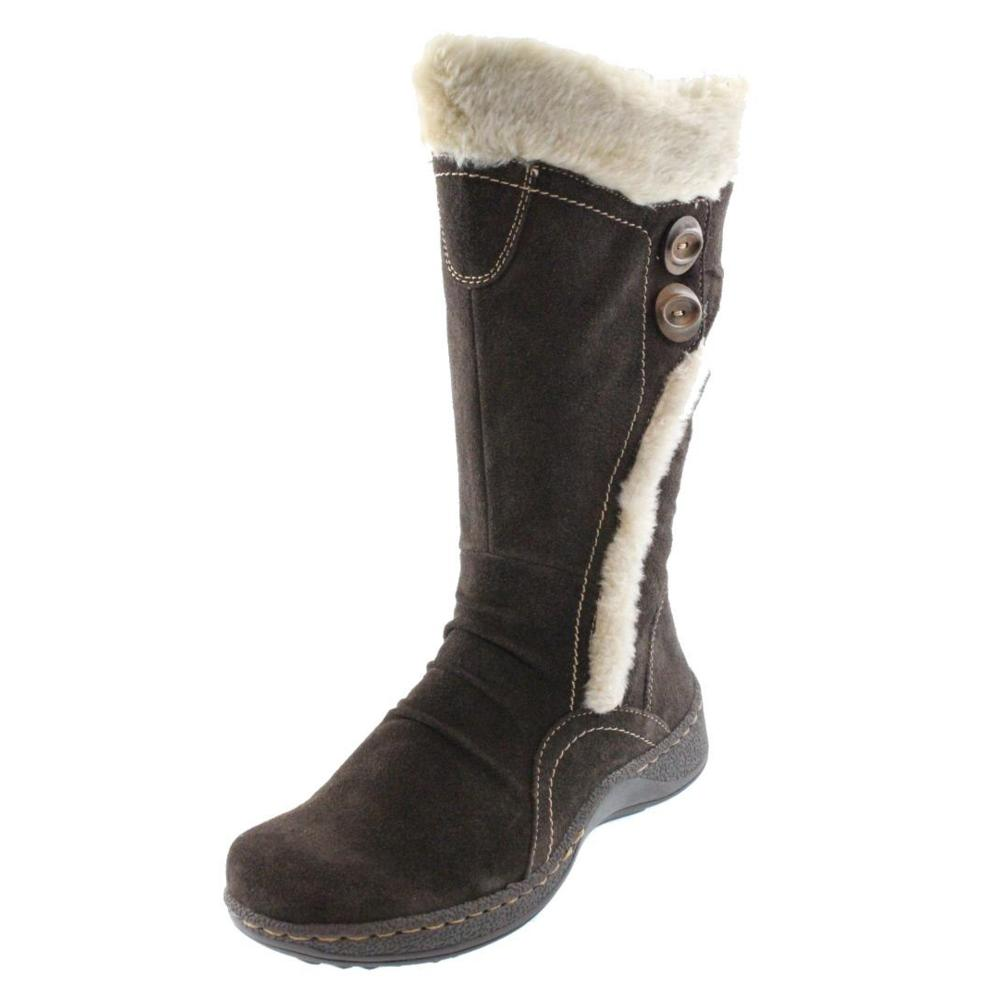 bare traps new elister brown lined suede mid calf boots