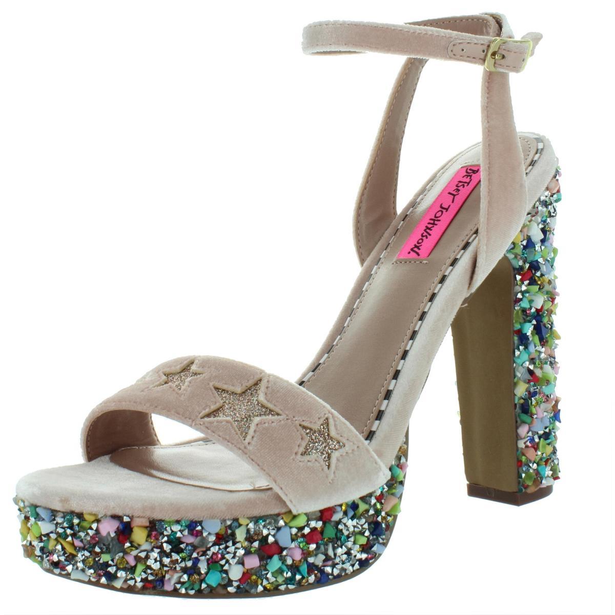 ee28946a27 Details about Betsey Johnson Womens Kenna Pink Platform Sandals Shoes 9  Medium (B,M) BHFO 6359