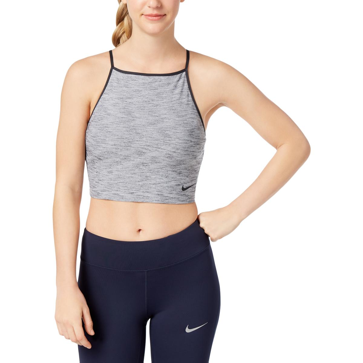 770034b652a Details about Nike Womens Gray Cropped Dri-Fit Training Tank Top Athletic  XL BHFO 6091
