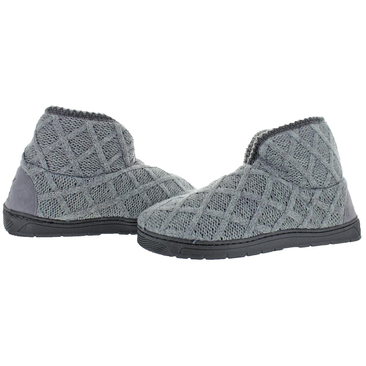 Mukluks-Men-039-s-Mark-Sweater-Knit-Furpa-Ankle-Bootie-House-Slippers thumbnail 23