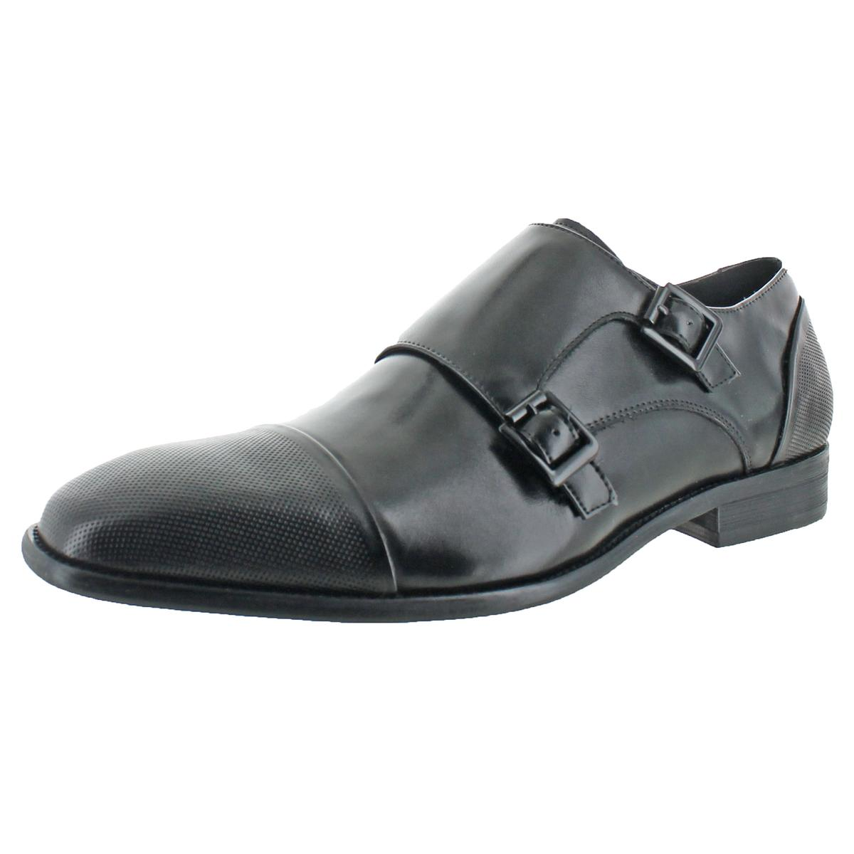 Kenneth Cole Reaction Men's DESIGN21351 Leather Dress Monk Strap Loafers Shoes