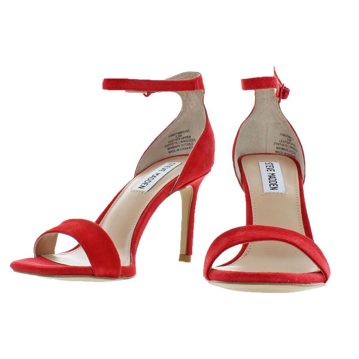 d5a2630ee0e Steve Madden Womens Fame Padded Insole Open Toe Evening Sandals ...