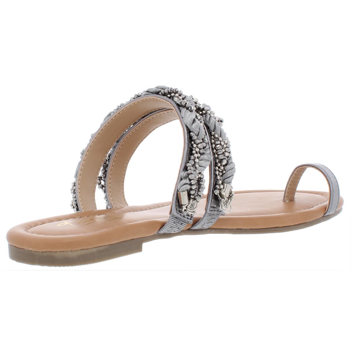 Thalia-Sodi-Womens-Jaelah-Toe-Ring-Microsuede-Dress-Flat-Sandals-Shoes-BHFO-7192 thumbnail 6