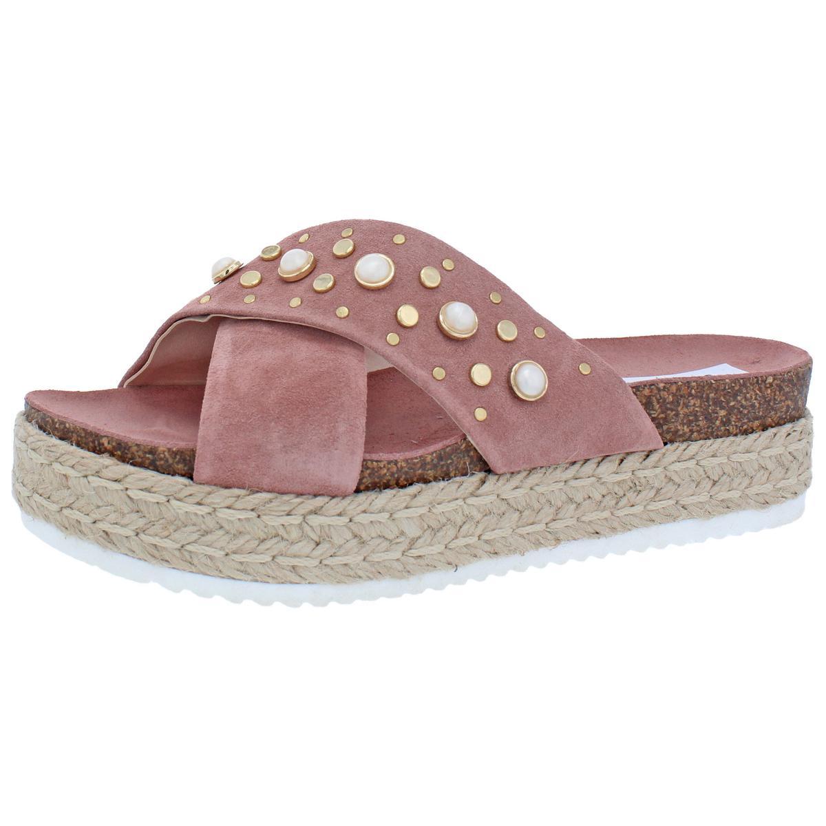 Steve Madden Damenschuhe Audrey Espadrille Open Toe Platform Sandales Schuhes BHFO 3046