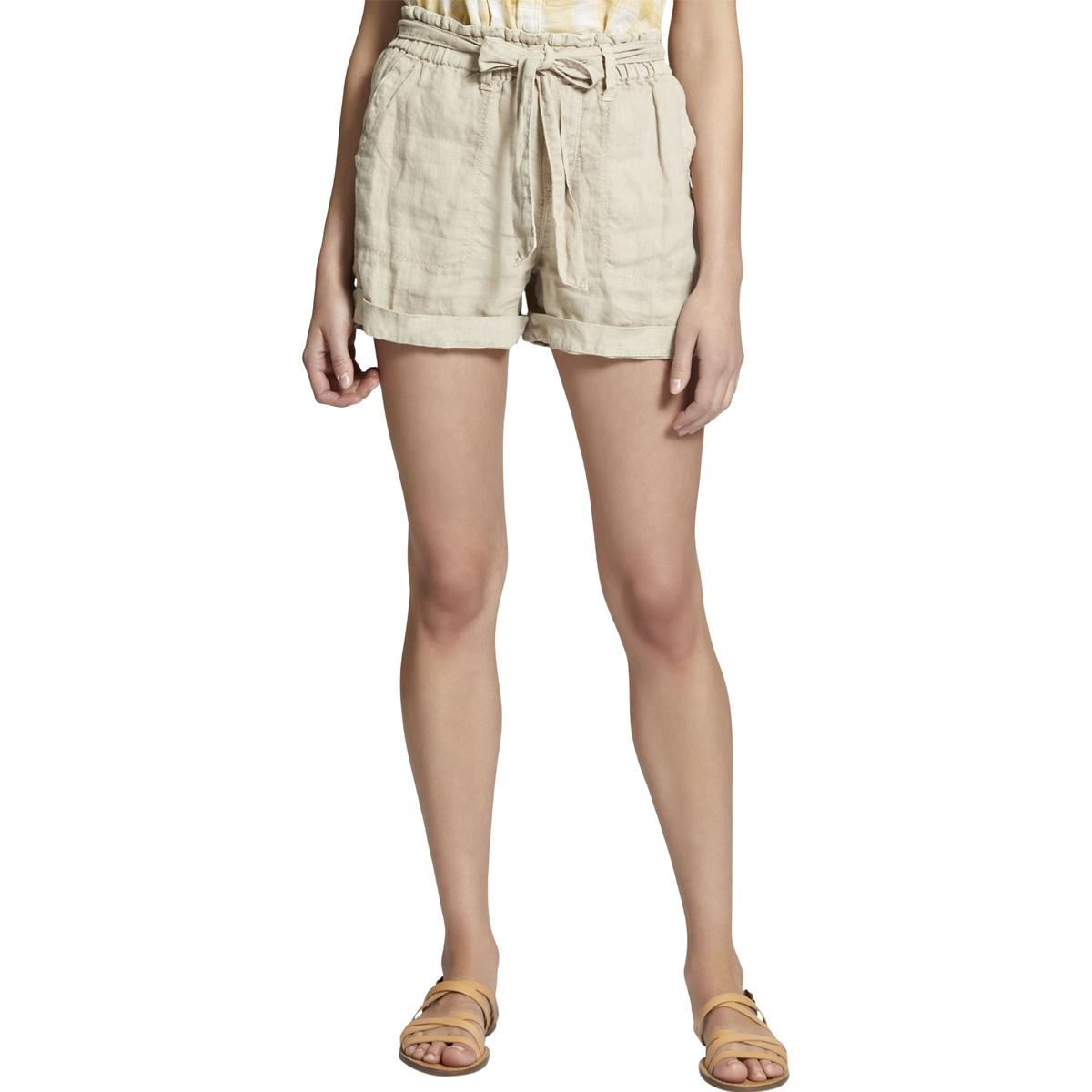 Sanctuary Womens Beige Linen Beach Summer Casual Shorts XS BHFO 2827