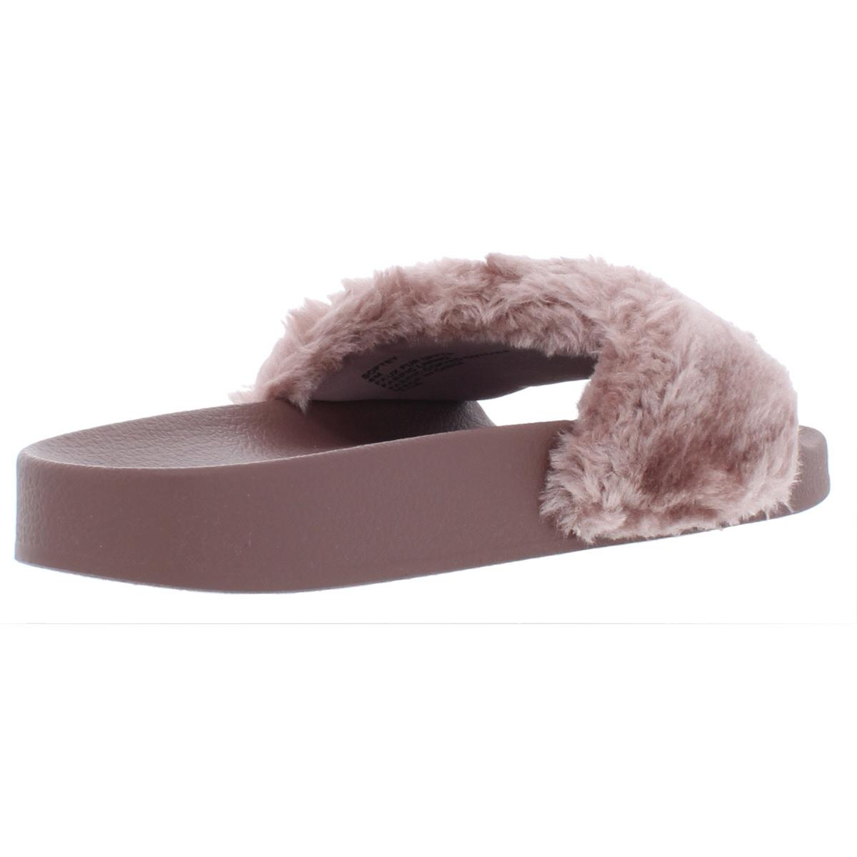 Steve-Madden-Softey-Women-039-s-Faux-Fur-Casual-Spa-Pool-Slide-Sandals-Shoes thumbnail 6
