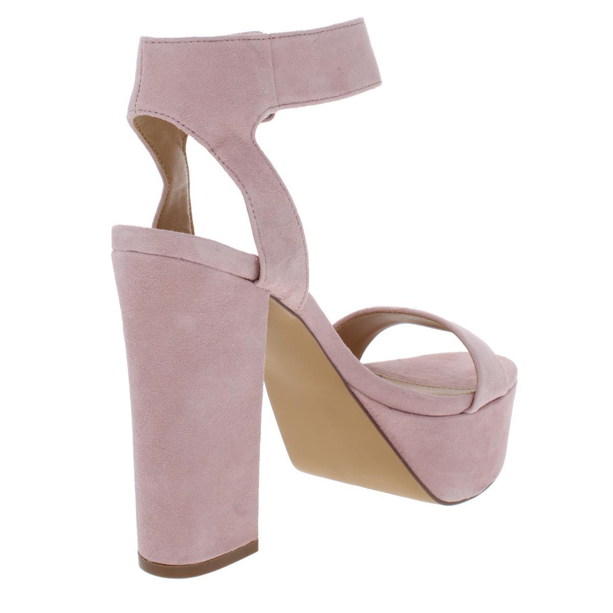 Steve-Madden-Womens-Joline-Suede-Covered-Heel-Platform-Sandals-Shoes-BHFO-8617 thumbnail 6