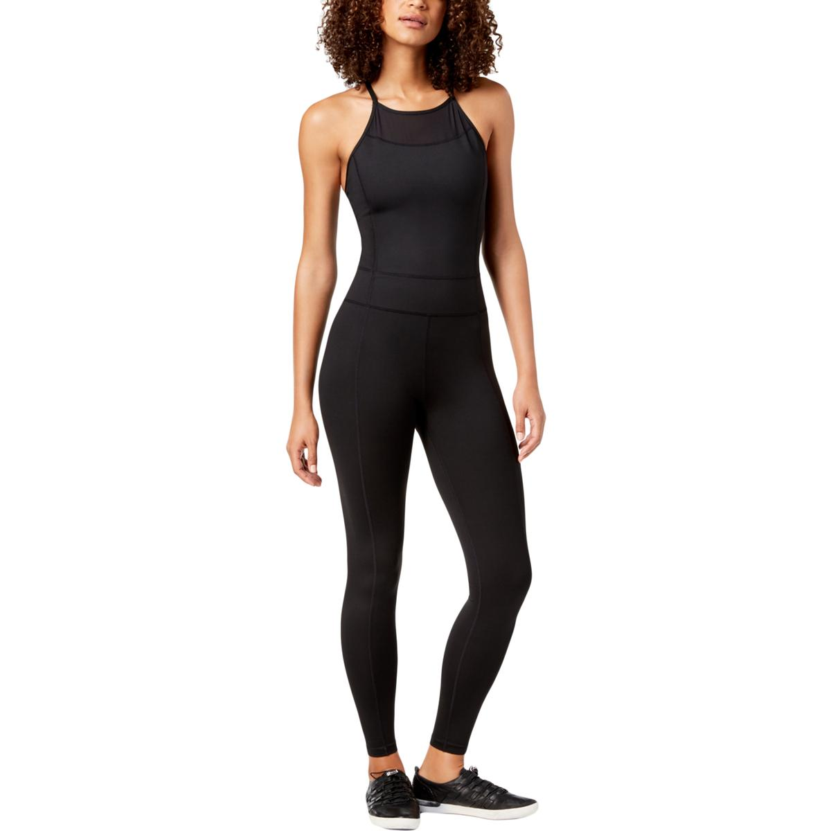 5f6f700341d0 Calvin Klein Performance Womens Black Fitness Jumpsuit Athletic M ...