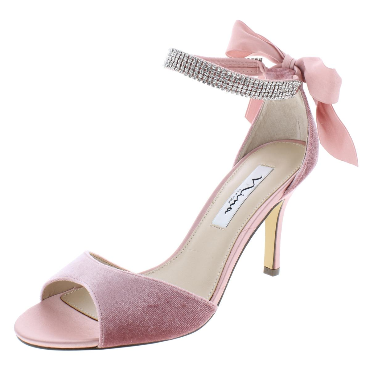 Nina-Womens-Vinnie-Pink-Satin-Evening-Heels-Shoes-8-5-Medium-B-M-BHFO-9996 thumbnail 1