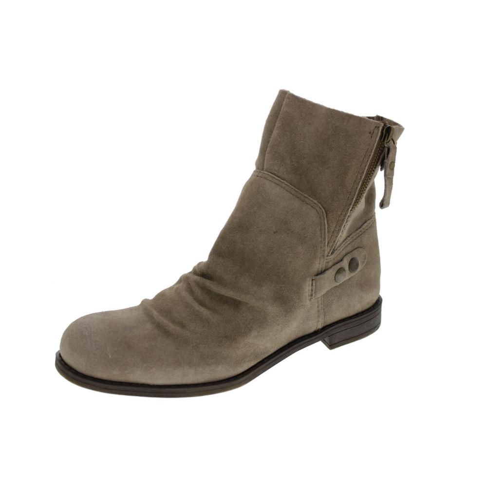 nine west maeble taupe suede toe ankle boots shoes 9