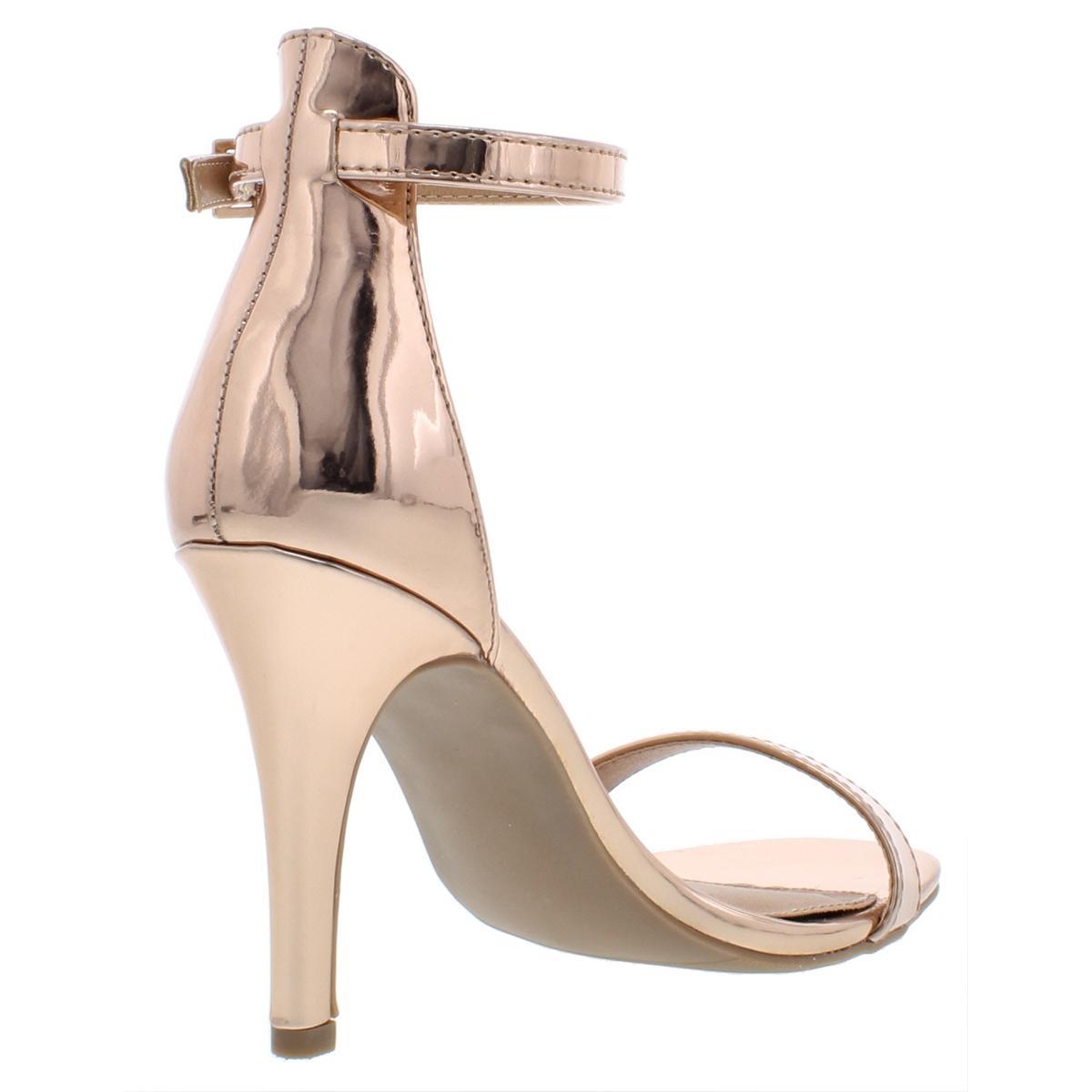 Material-Girl-Womens-Blaire-6-Patent-Mirrored-Dress-Heels-Sandals-BHFO-4127 thumbnail 8