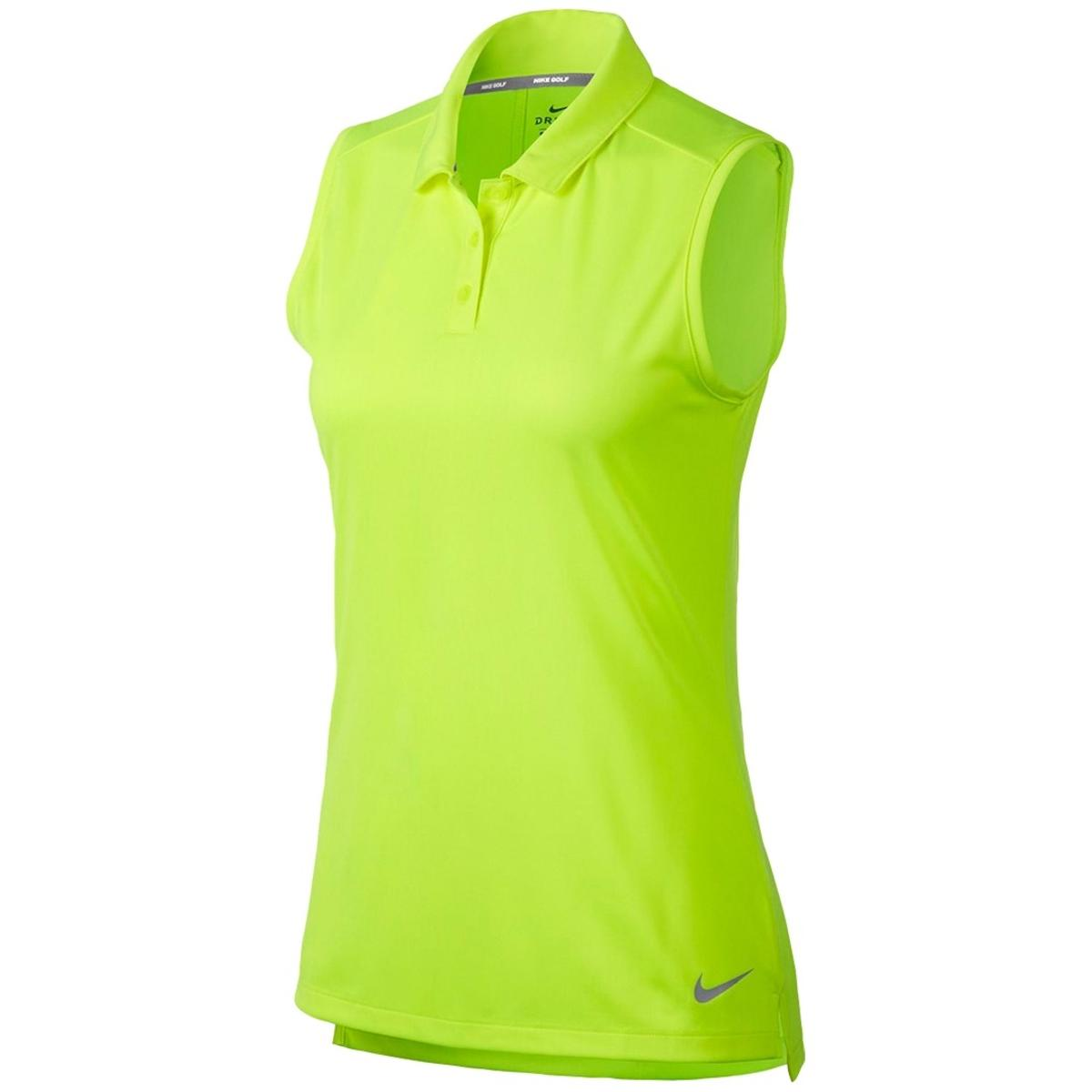 dfaf56d1 Details about Nike Golf Womens Yellow Fitness Training Sleeveless Polo  Athletic XL BHFO 2440