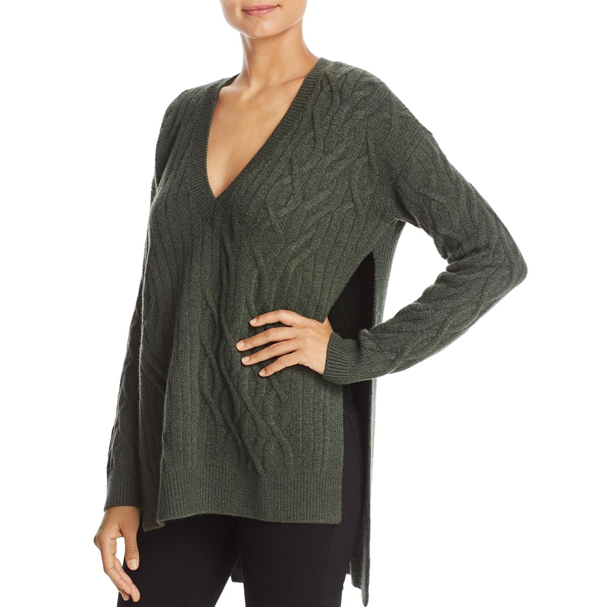 Kenneth Cole Womens Green Wool Cable Knit Pullover Sweater Top S ... 803dd3941