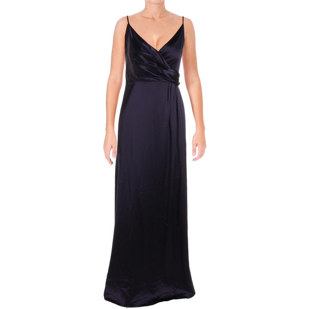 Jill Jill Stuart Womens Crossover Slip Gown Deep Violet 12 Regular