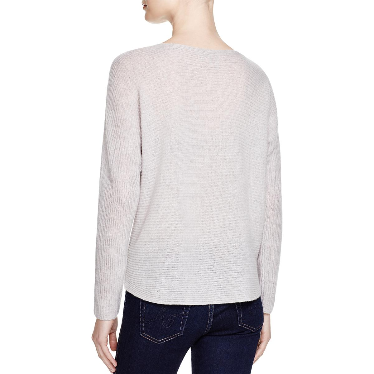 Joie-Womens-Cashmere-Long-Sleeves-Scoop-Neck-Pullover-Sweater-Top-BHFO-3882 thumbnail 8