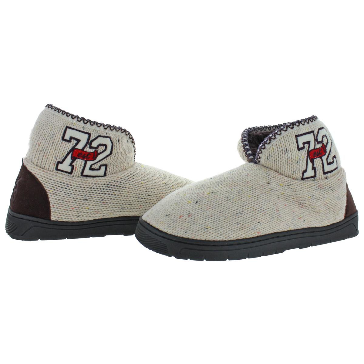 Mukluks-Men-039-s-Mark-Sweater-Knit-Furpa-Ankle-Bootie-House-Slippers thumbnail 31