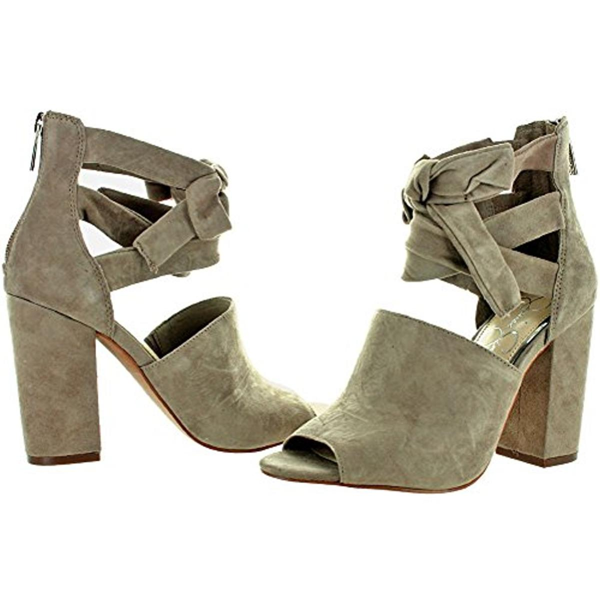 Jessica-Simpson-Kandiss-Women-039-s-Open-Toe-Block-Heel-Dress-Shoes thumbnail 8