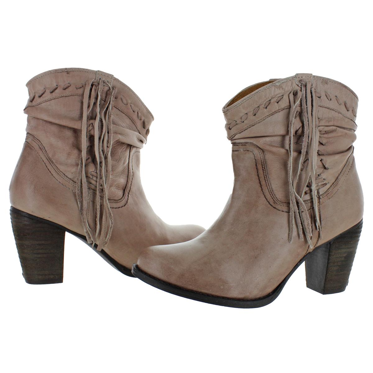 Naughty-Monkey-Womens-Noe-Leather-Block-Heel-Bootie-Ankle-Boots-Shoes-BHFO-9116 thumbnail 6