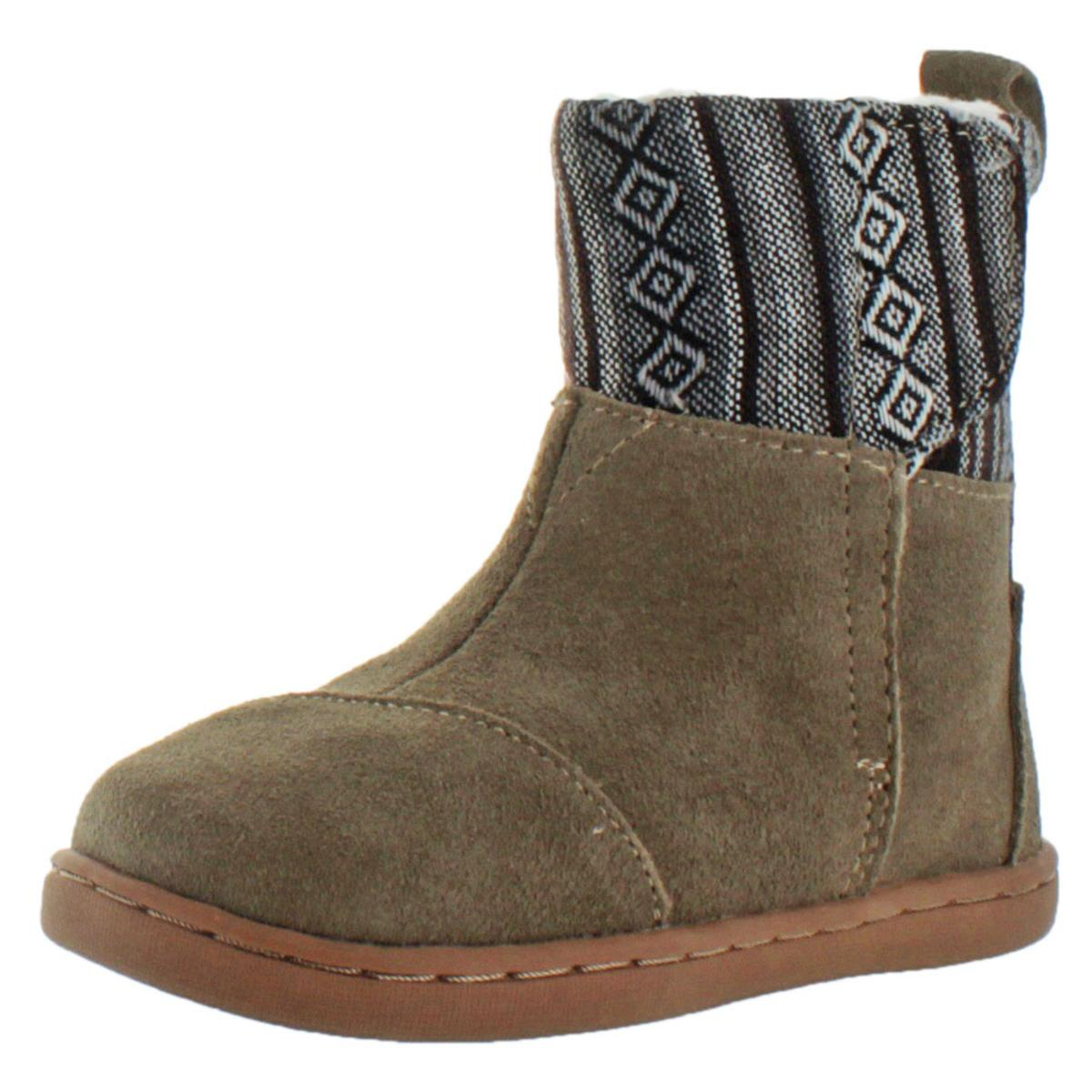 fafd01c637f Details about Toms Nepal Girls Toddler Faux Shearling Winter Boots Booties