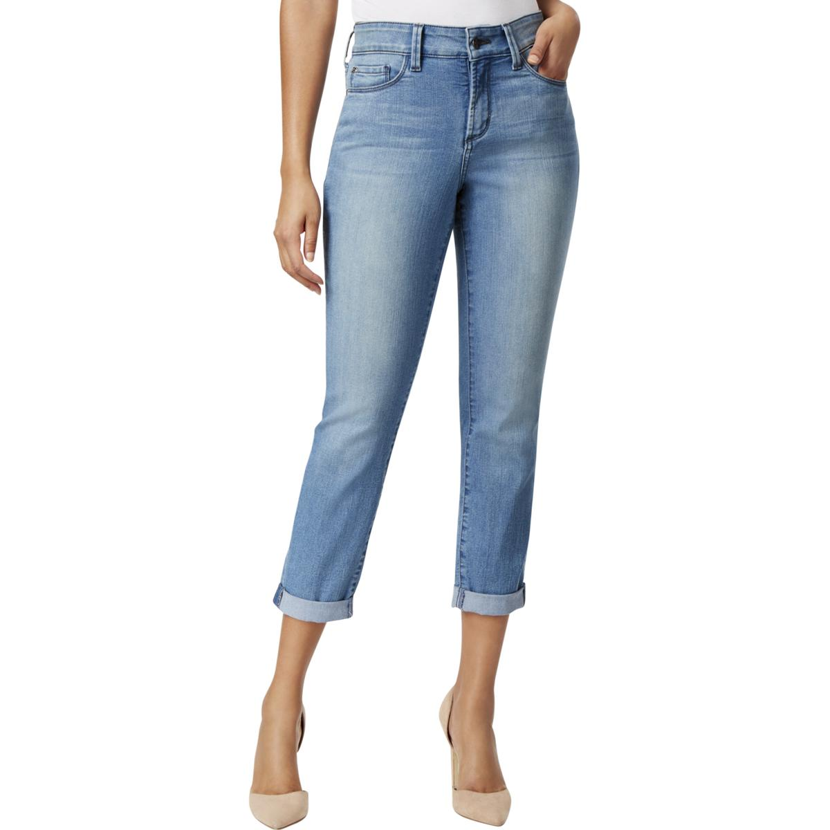 07a9ffd34b01b4 NYDJ Jetstream Alina Tummy Control Convertible Ankle Jeans Pants 2 ...