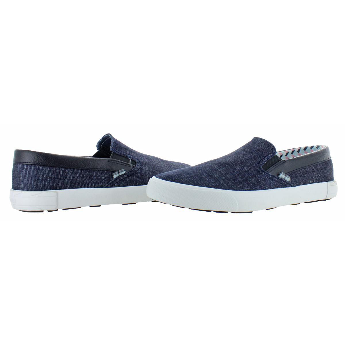 Ben-Sherman-Percy-Men-039-s-Canvas-Slip-On-Shoes-Sneakers thumbnail 5