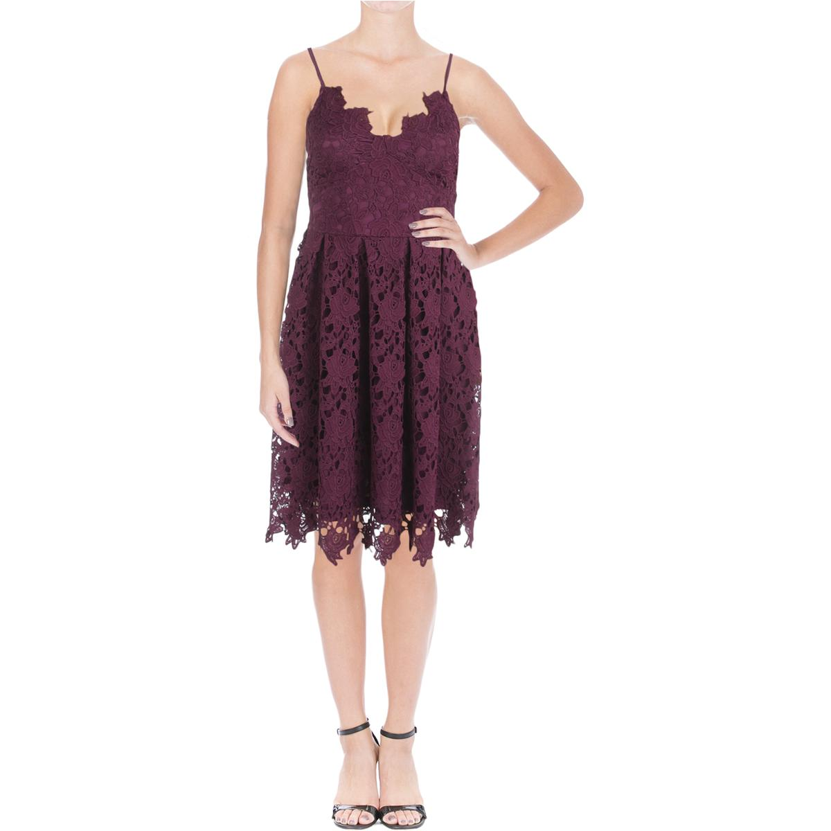 Aqua Women\'s Lace Cami Dress in Wine Size M Bloomingdales | eBay