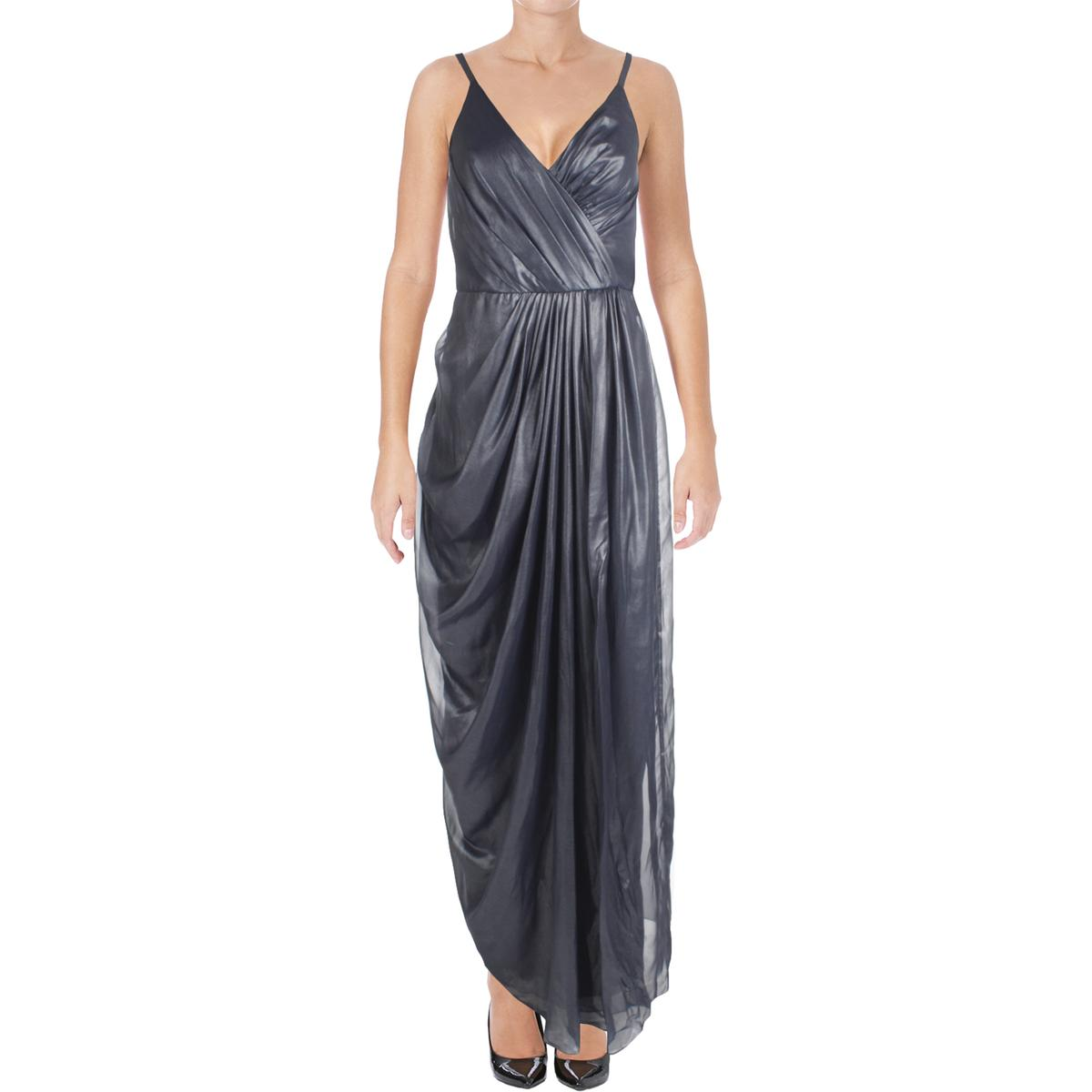 Vera Wang Womens Chiffon Shimmer Sleeveless Evening Dress Gown BHFO ...