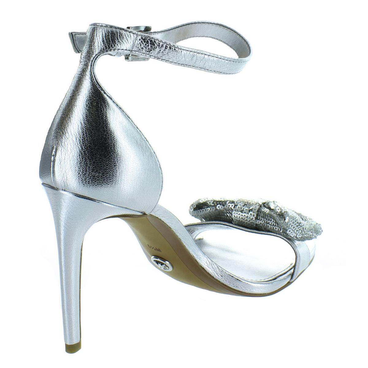 83c7f23193 Michael Kors Shoes Size 7 High HEELS Silver Paris Metallic Ankle ...