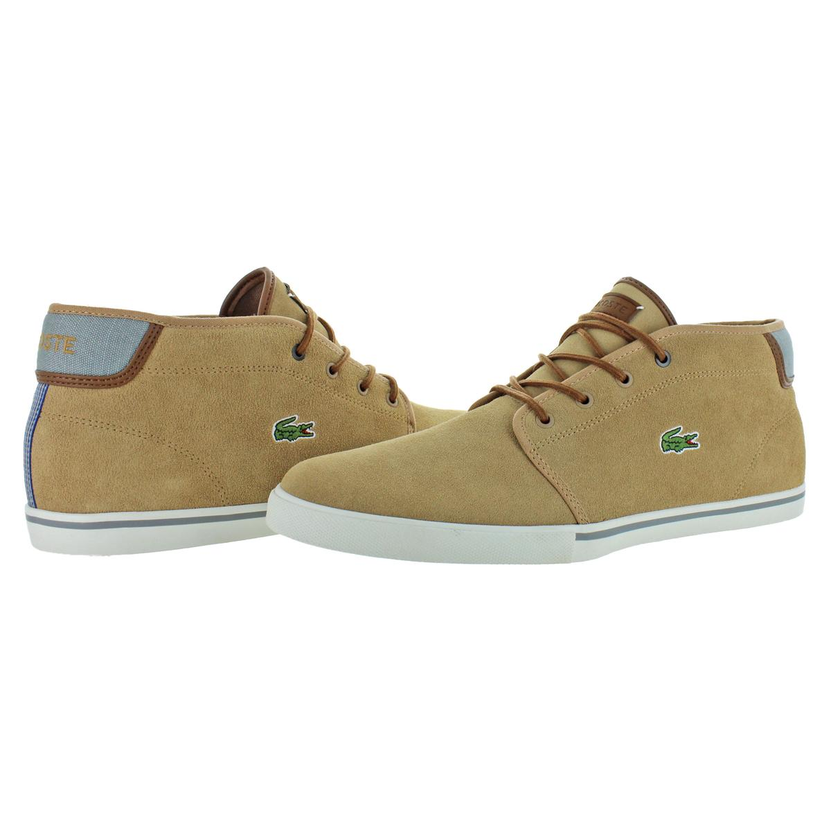 Lacoste-Men-039-s-Ampthill-Leather-Chukka-Mid-Top-Fashion-Sneakers-Shoes thumbnail 9