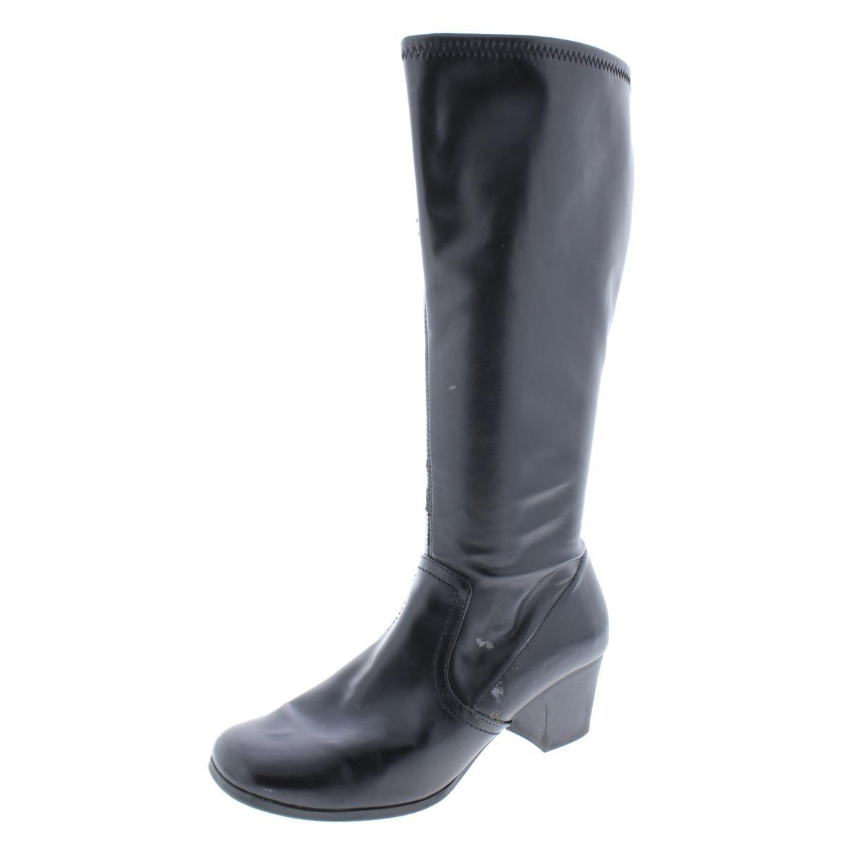 Relativity Womens Madlyn Black Knee-High Boots shoes 7 Medium (B,M) BHFO 4843