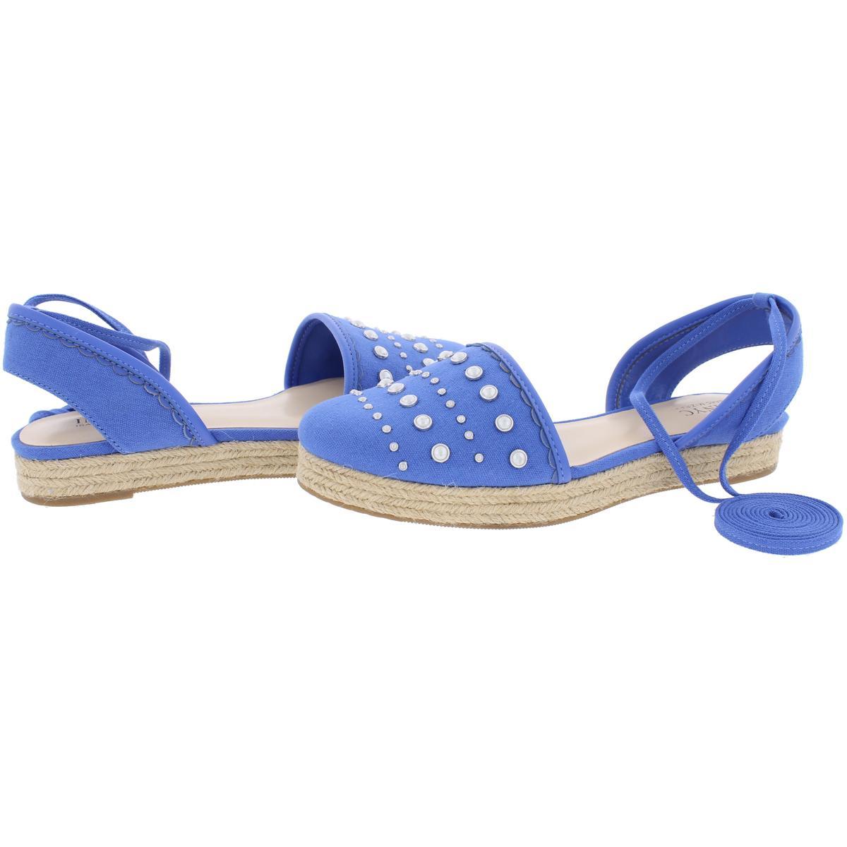 IMNYC-Isaac-Mizrahi-Womens-Hilda-Canvas-Flat-Sandals-Espadrilles-Shoes-BHFO-2640 thumbnail 8