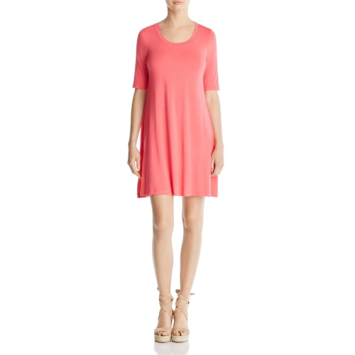 e931f92bdbe87e Details about Cupio Womens Elbow Sleeves Scoop Neck Above Knee T-Shirt  Dress BHFO 2996