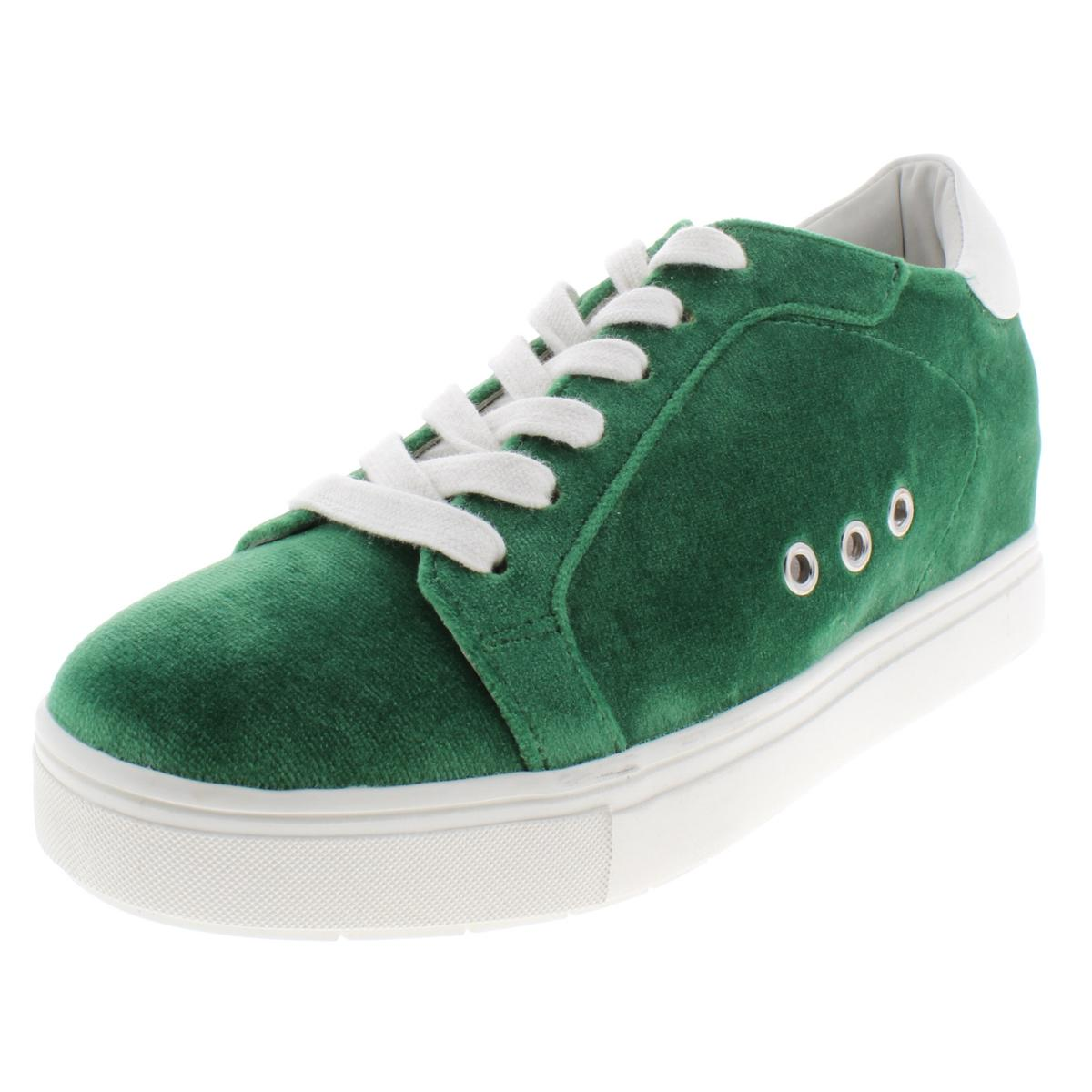 d3a88a8d62b Details about Steve Madden Womens Steal Velvet Wedge Low Top Casual Shoes  Sneakers BHFO 1578