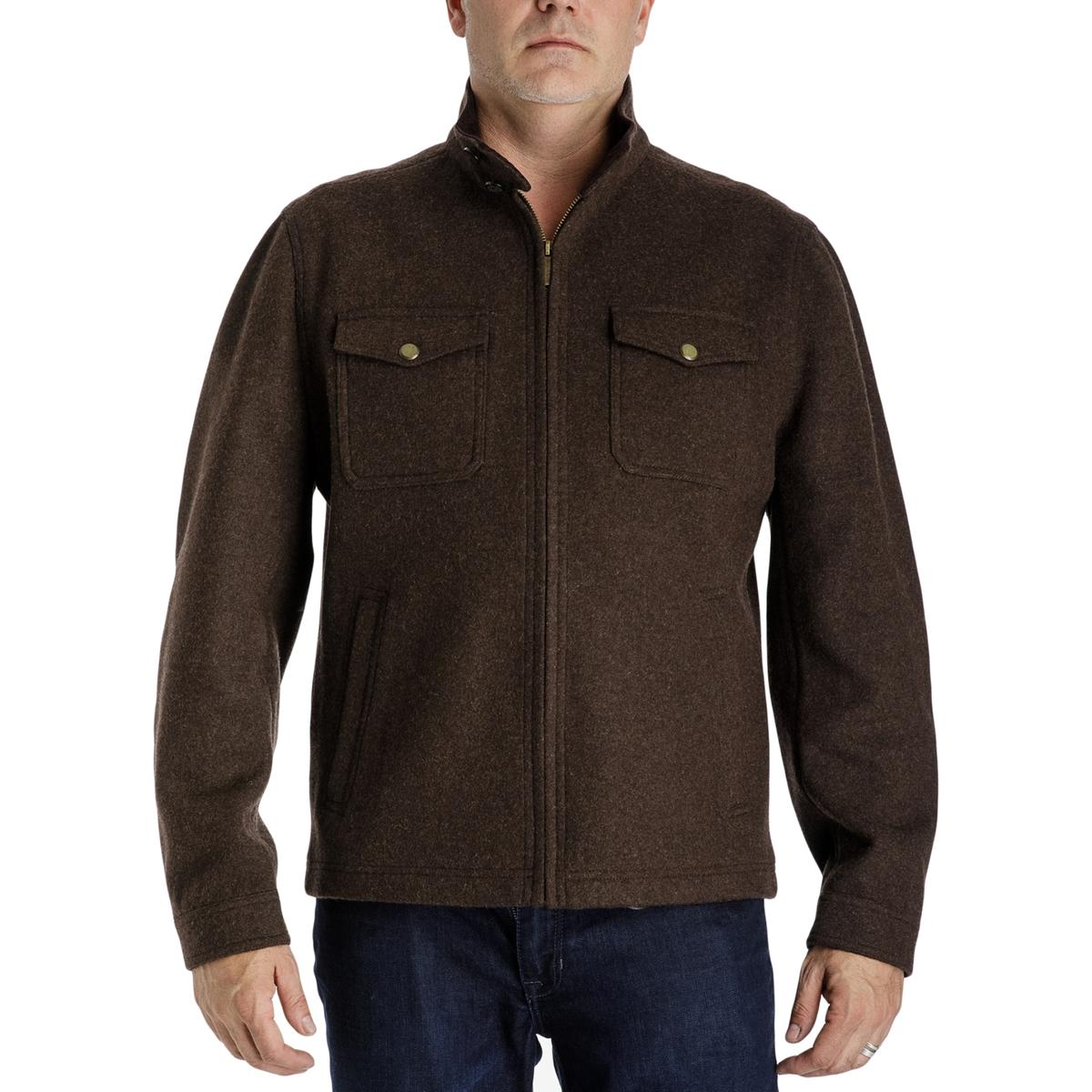 c317fbaf98f9 Details about London Fog Mens Brown Spring Shirt Jacket Outerwear Big   Tall  2XLT BHFO 2403