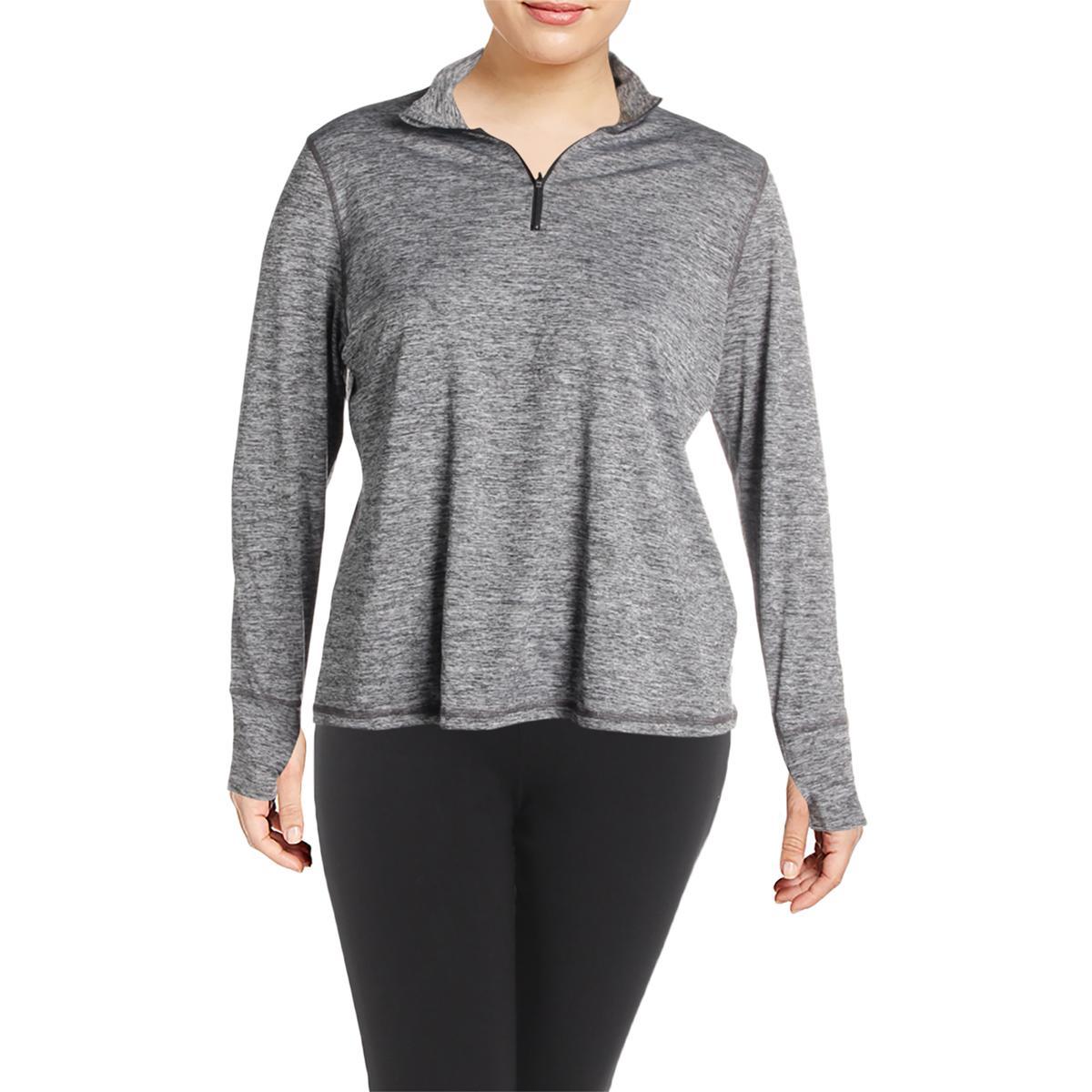 Ideology Womens Lightweight Workout Training 1//4 Zip Pullover Top Plus BHFO 5535