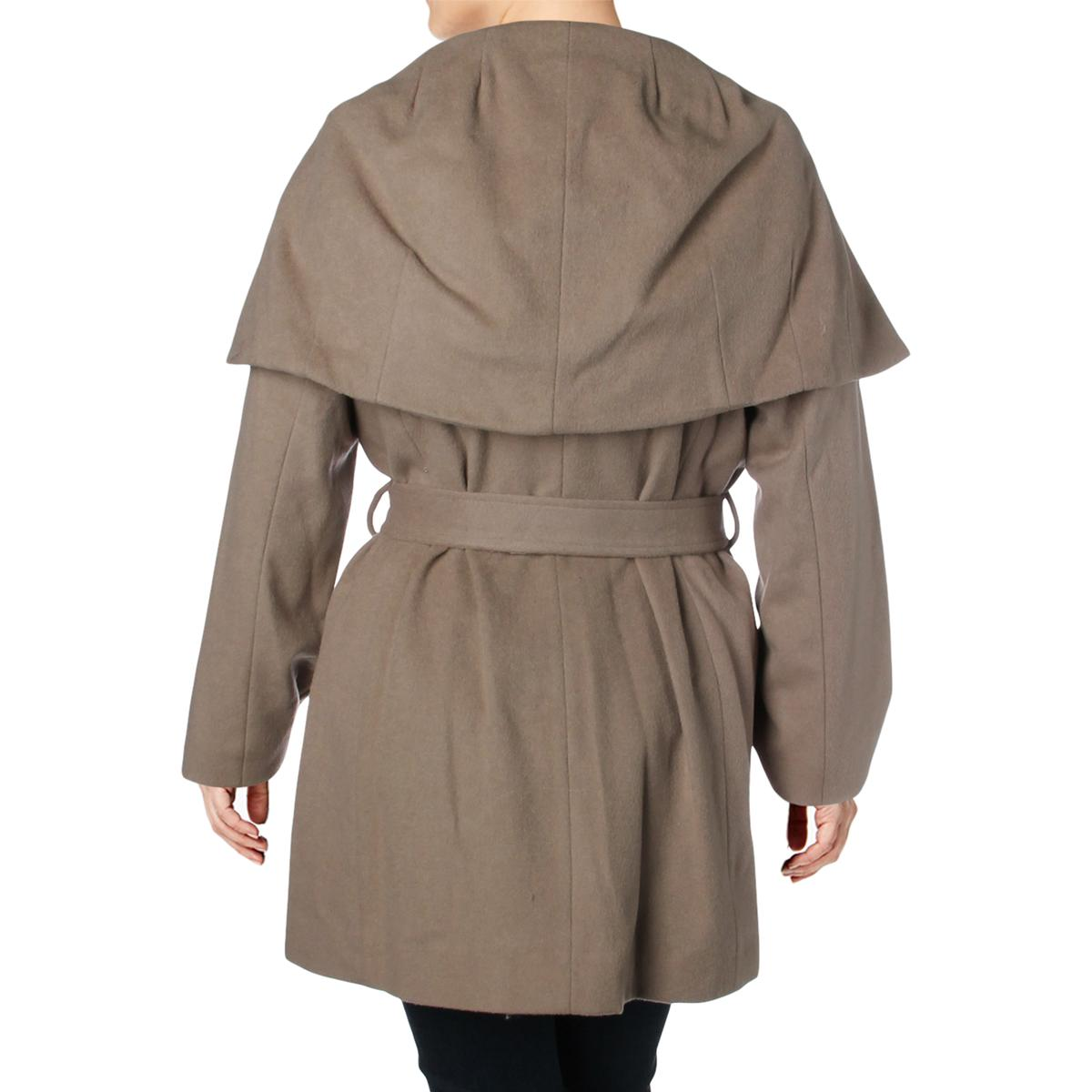 Tahari-Marla-Women-s-Plus-Size-Oversized-Collar-Warm-Wool-Blend-Wrap-Coat thumbnail 4