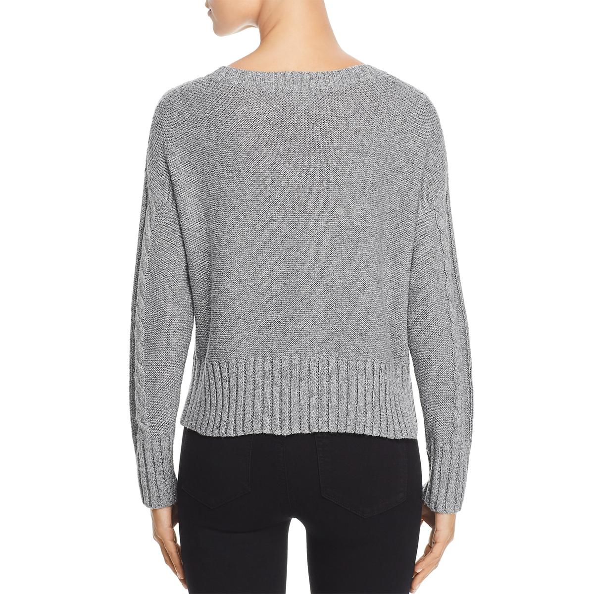 Design History Womens Textured Cable Knit Crew Neck ...