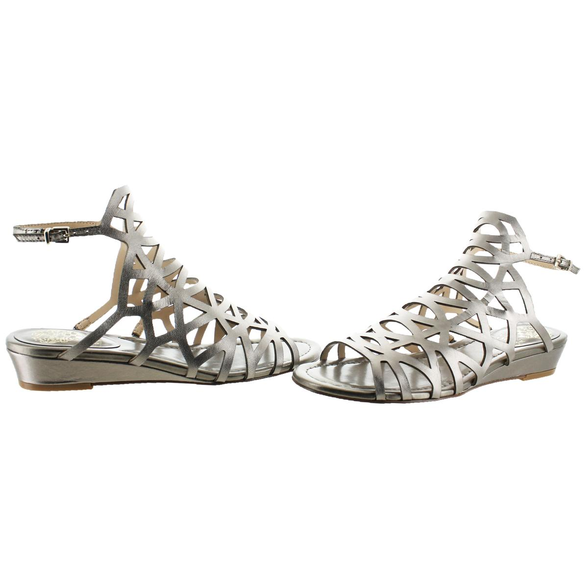 Vince-Camuto-Illana-Women-039-s-Leather-Strappy-Slingback-Caged-Sandal-Shoes thumbnail 12