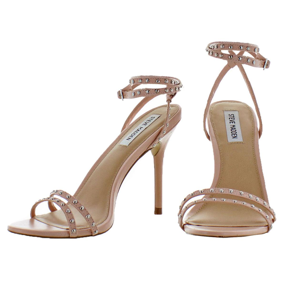 Steve-Madden-Womens-Wish-Leather-Heels-Stiletto-Sandals-Shoes-BHFO-6930 thumbnail 8