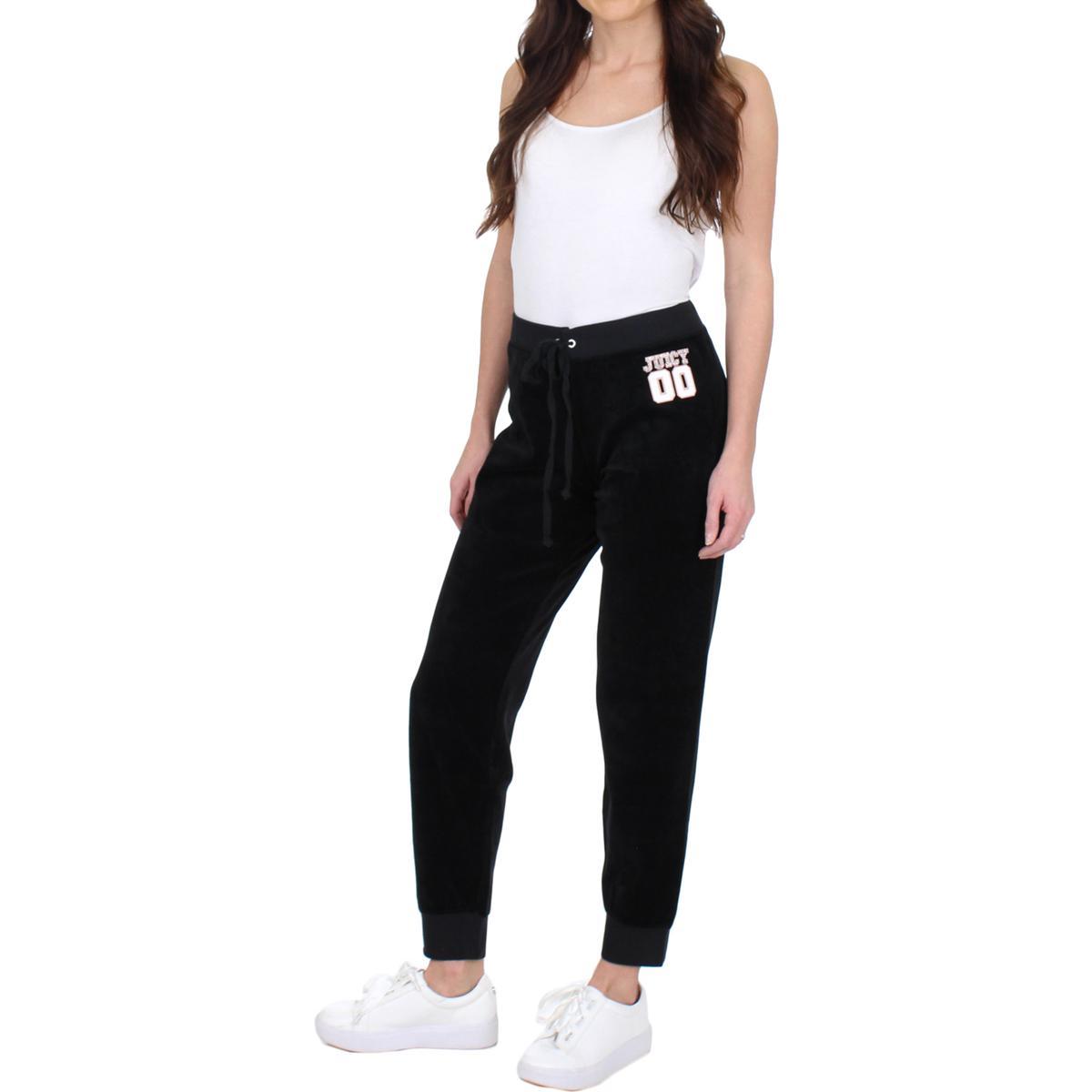 Juicy-Couture-Black-Label-Womens-00-Zuma-Velour-Jogger-Track-Pants-BHFO-5269