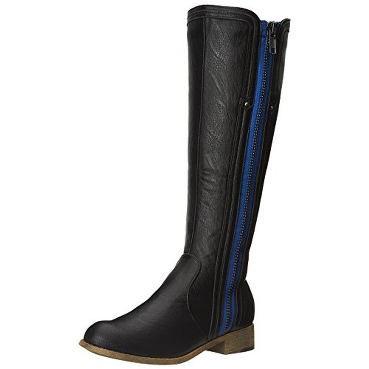 Luichiny 1979 Womens Phone Booth Faux Leather Knee High Riding Boots Shoes BHFO