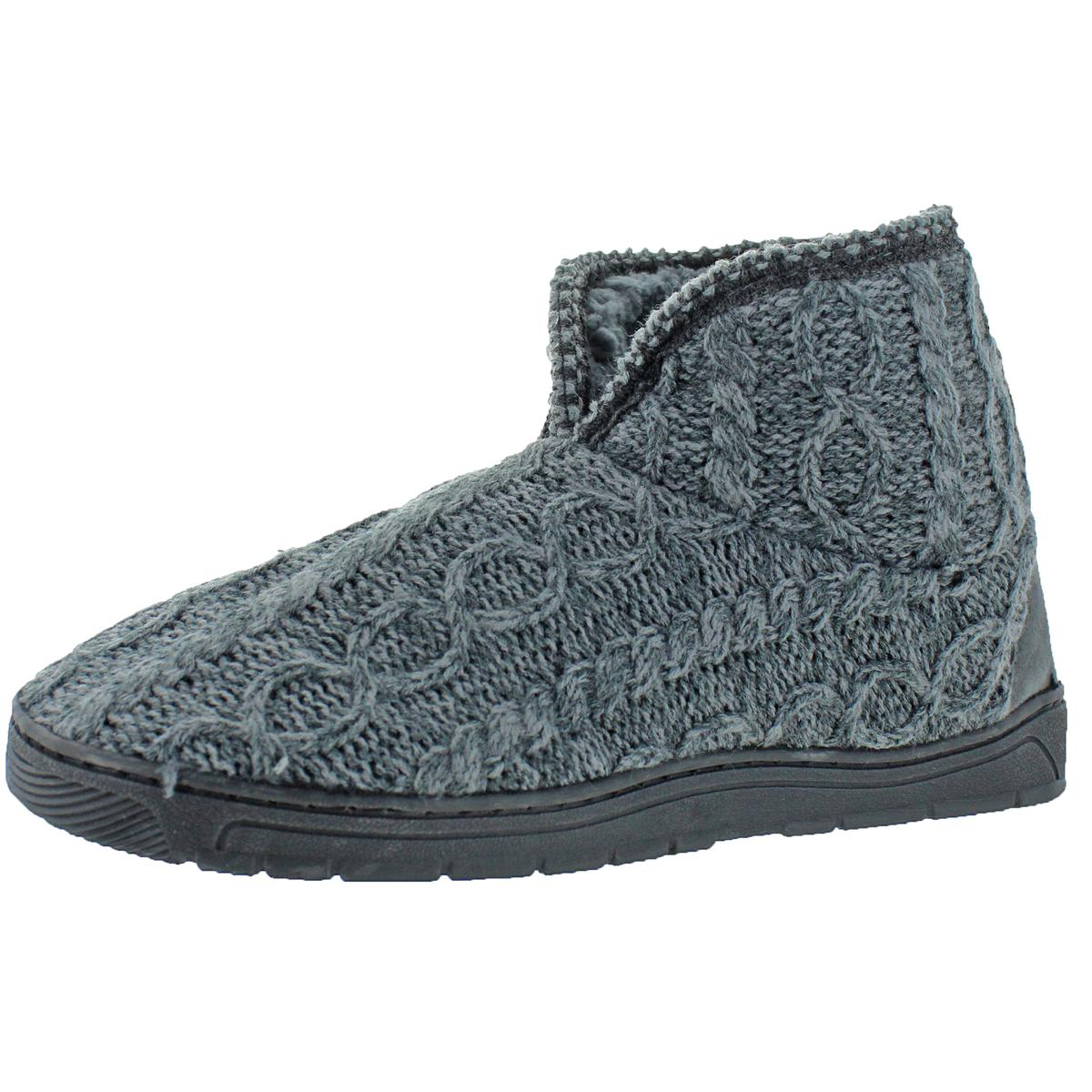 Mukluks-Men-039-s-Mark-Sweater-Knit-Furpa-Ankle-Bootie-House-Slippers thumbnail 8